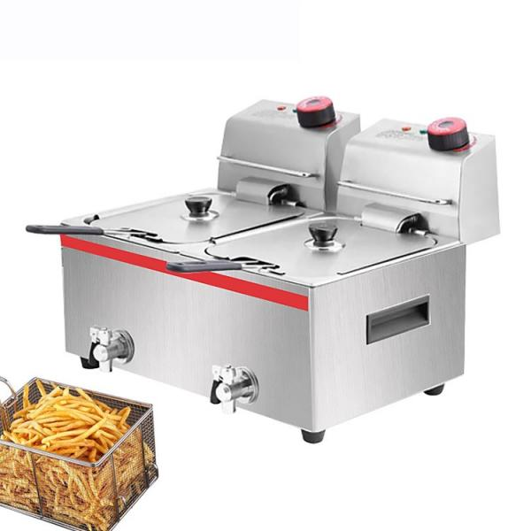 Meat 50L Stainless Steel Electric Deep Fryer with Stand on The Ground #1 image